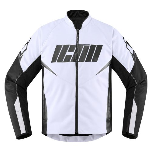 ICON HOOLIGAN - WHITE motoros kabát