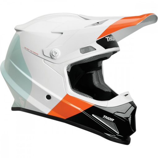 Thor SECTOR™ BOMBER MIPS® S9 OFFROAD bukósisak ORANGE/WHITE