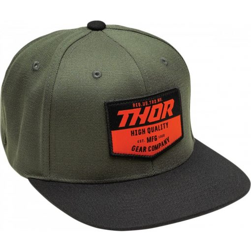 Thor sapka CHEVRON SNAPBACK BLACK/MILITARY GREEN