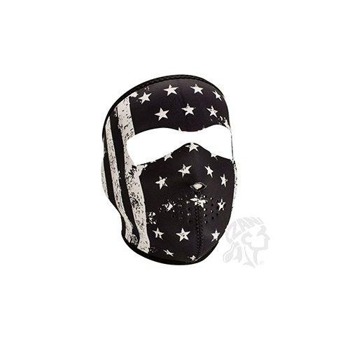 Zan Headgear motoros/símaszk - Black/Whte Vintage Flag - Felnőtt méret -