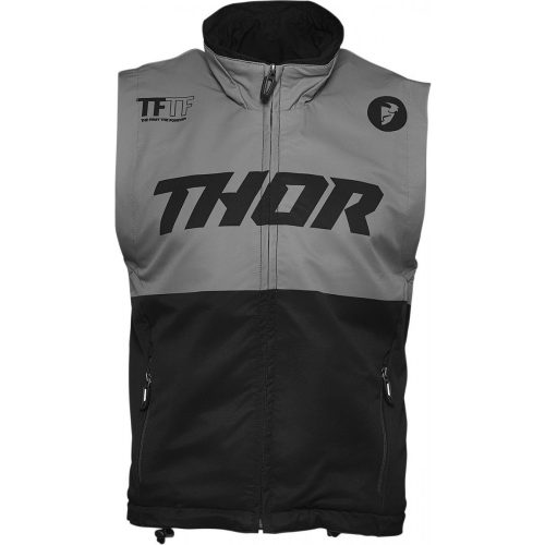 Thor férfi mellény WARM UP VEST BLACK/CHARCOAL