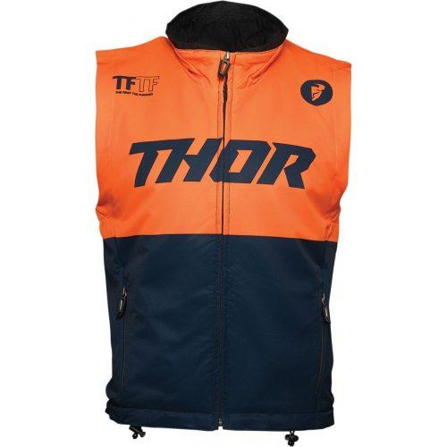 Thor férfi mellény WARM UP VEST MIDNIGHT/ORANGE