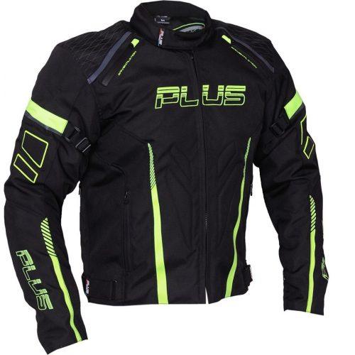 Plus Racing Gear - Ray motoros kabát fekete/neon