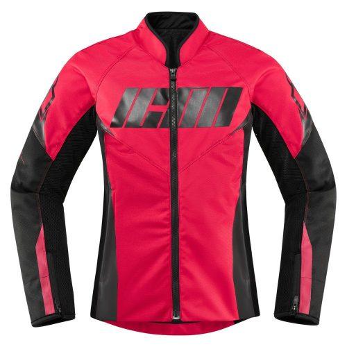 Icon női motoros kabát Hooligan - Rouge