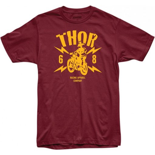 Thor férfi póló LIGHTNING BURGUNDY