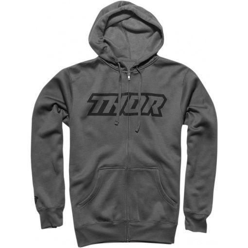 Thor férfi pulóver CLUTCH ZIP-UP FLEECE GRAY