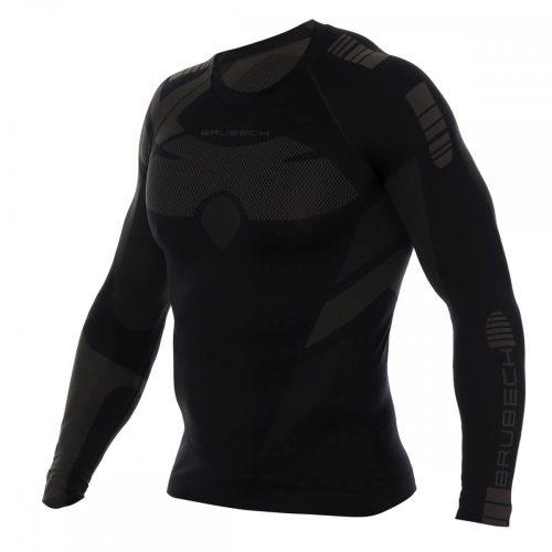 BRUBECK DRY - Férfi motoros aláöltöző felső - Fekete