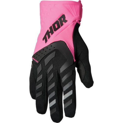 Thor Női cross kesztyű - SPECTRUM - pink/fekete