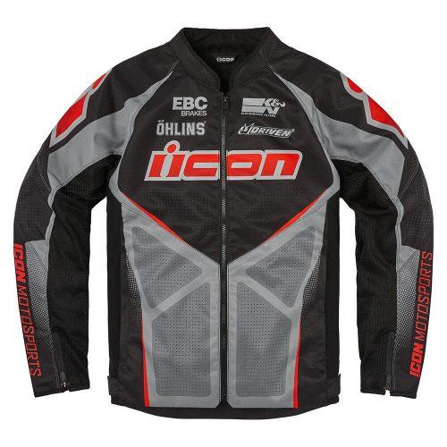 ICON motoros kabát HOOLIGAN ULTRABOLT - BLACK