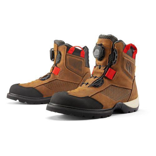 Icon motoros cipő STORMHAWK WATERPROOF - BROWN