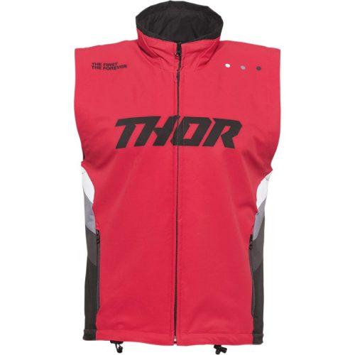 Thor férfi mellény WARM UP VEST - RED/BLACK