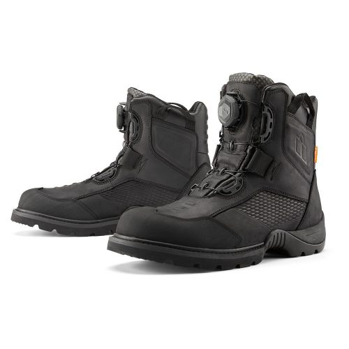 Icon motoros cipő STORMHAWK WATERPROOF - BLACK