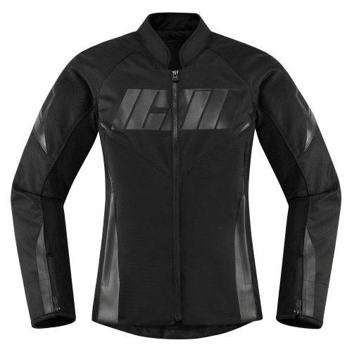 Icon női motoros kabát Hooligan - Black