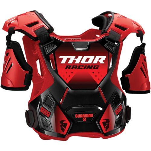 Thor GUARDIAN ROOST cross mellprotektor karvédővel (piros/fekete)