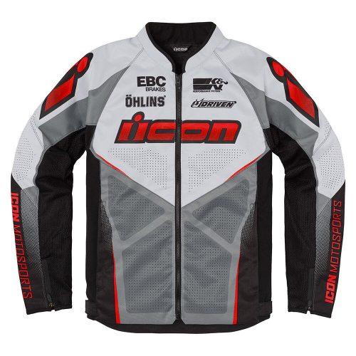 ICON motoros kabát HOOLIGAN ULTRABOLT - RED