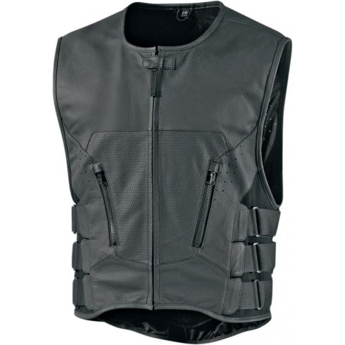 Icon Regulator D3O Stripped Vest - Black Stripped