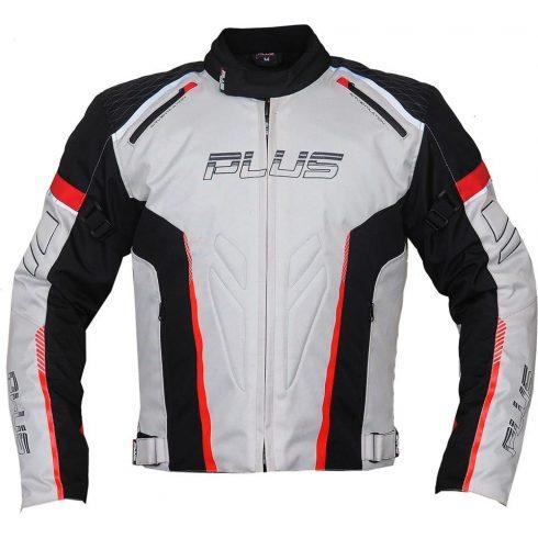Plus Racing Gear - Ray motoros kabát szürke/piros/fekete