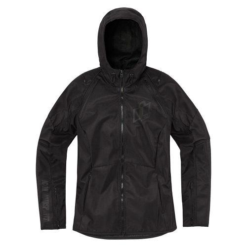 Icon női motoros kabát AIRFORM - BLACK