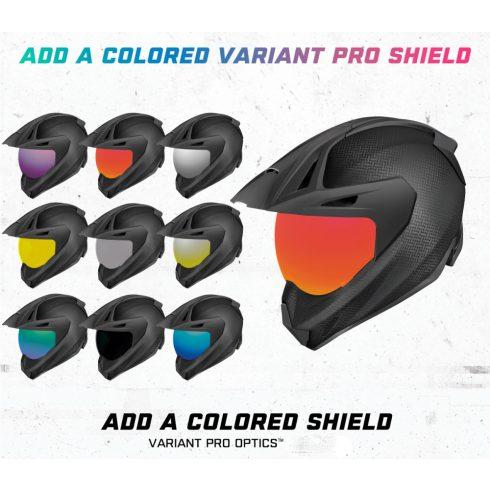 Icon VARIANT™ Shield bukósisak plexi - több színben