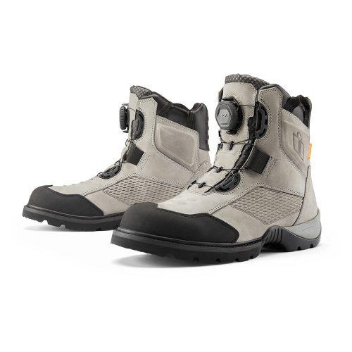 Icon motoros cipő STORMHAWK WATERPROOF - GRAY