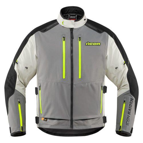 ICON RAIDEN - GRAY/HI-VIZ motoros kabát