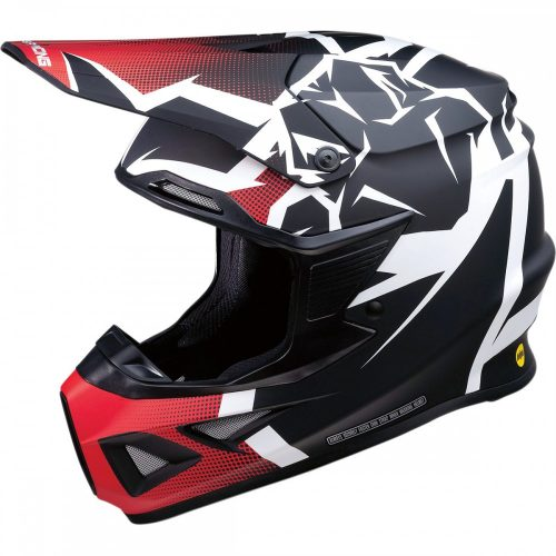 Moose Racing F.I. AGROID HELMET - RED/BLACK MIPS cross mx bukósisak
