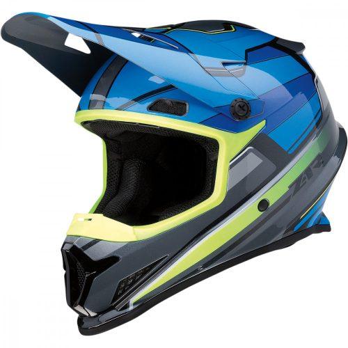 Z1R RISE MC  cross bukósisak - blue/hiviz