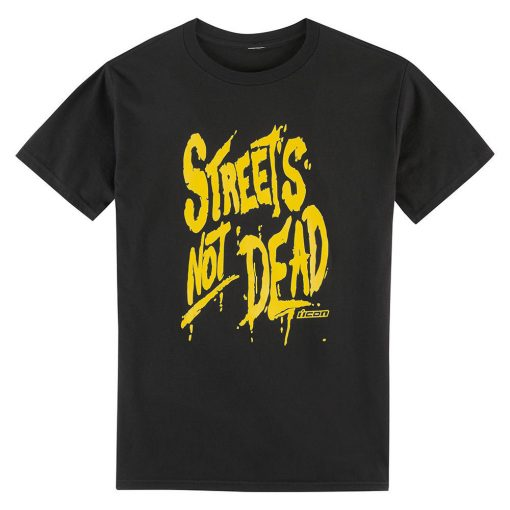 Icon Streets Not Dead T-Shirt  - Black